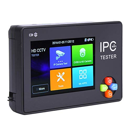 Great Deal! Qinlorgo 3.5 inch Touch Screen CCTV Tester, H.265 4K IPC1600ADHplus IP Camera Tester Mon...
