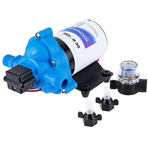 DC HOUSE RV Water Pump 3.0 Gallons/min (11.6 Lpm)   12 Volt DC   Self Priming Transfer Pump for RV/Marine Camper Sprayer