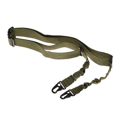 NO LOGO X-Baofu, Tactical 2 Point Sling Einstellbare Bungee-Gewehr-Gewehr-Riemen-Bügel Zwei-Punkt-Gewehr-Riemen-Militärgewehr-Bügel-Armee Airsoft 3 Farben (Farbe : Grün)