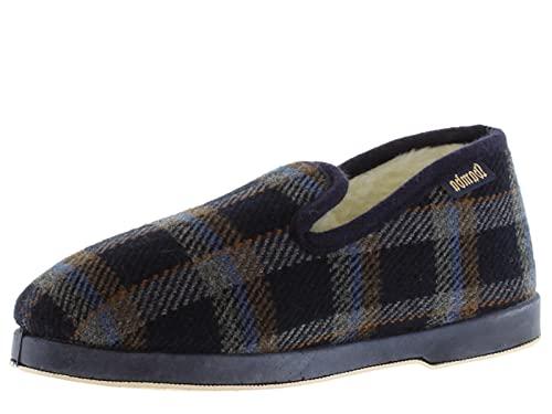 victoria Alpargata WAMBA Confortable Zapatilla DE CASA Textil Cuadros H/Recta 200301M-MEN para Hombre Marino 42