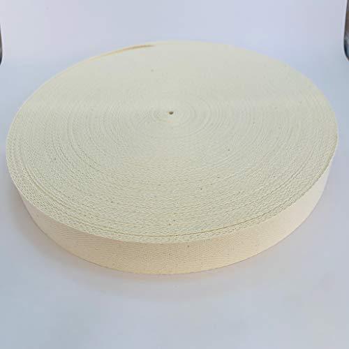 綿スフ 混紡 綾テープ 生成 厚さ約1mm 幅約30mm 長さ50m巻き