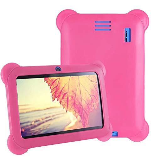 LNX Tableta para Niños de 7 Pulgadas, Android de Cuatro Núcleos, 1 GB de RAM + 8 GB de ROM, WiFi, Memoria Ampliable, Cámaras Duales, Portátil, Visualización de Pantalla HD