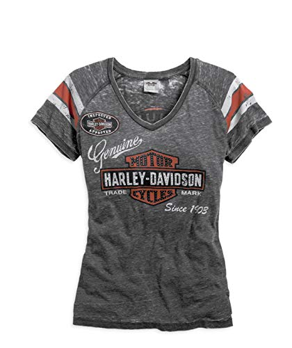 HARLEY-DAVIDSON Genuine Oil Can Burnout Tee Damen T-Shirt, 99196-14VW, S-Lady