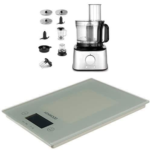 Kenwood FDM303SS MultiPro Compact Robot da Cucina + Kenwood DS401.W Bilancia Elettronica da Cucina