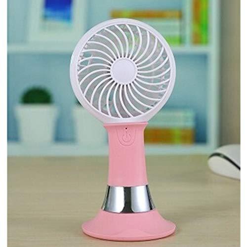 Preisvergleich Produktbild Kühl USB Fan Mini wiederaufladbare Lüfter Outdoor tragbare Taschenlampe freie Hände stumm 3 Gang Wind elektrischer Lüfter Handventilator (Color : Pink)