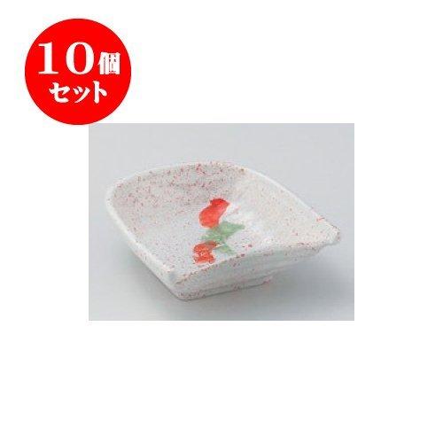 10個セット 松花堂 赤絵籠小鉢 [10.5 x 10.5 x 4cm] 【料亭 旅館 和食器 飲食店 業務用 器 食器】
