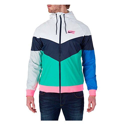 Nike Men's Sportswear Windrunner Jacket White/Multicolor AJ1396-100 (Size: 2XL)