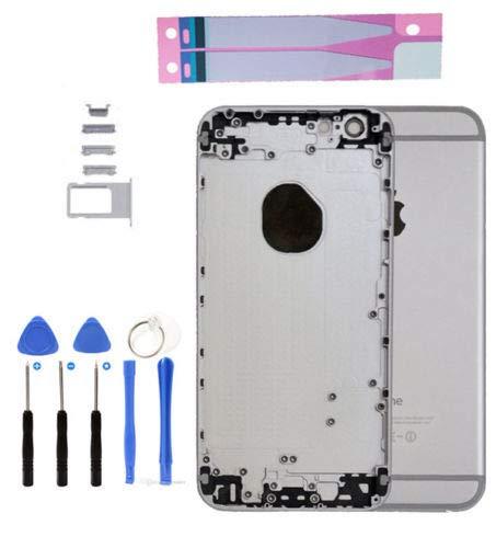 Infigo iPhone 6Back Cover Housing Carcasa Marco Parte Trasera Aluminio Incluye Piezas pequeñas, batería Adhesiva y Herramientas