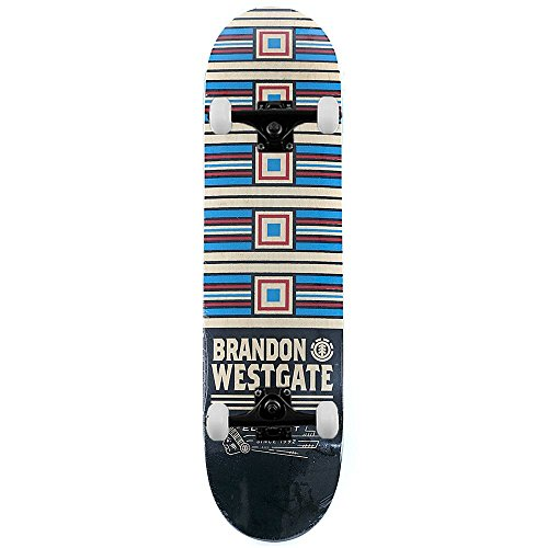 Element Skateboards Brandon Westgate prima fase Pro skateboard completo multi 20,6 cm