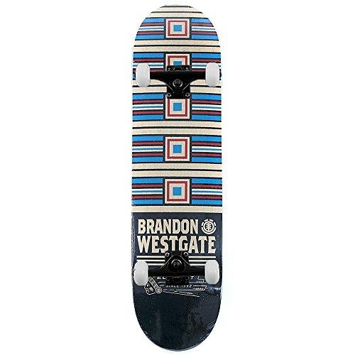 Element Skateboards Brandon Westgate prima fase Pro skateboard completo multi 20,6cm