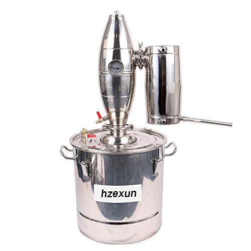hzexun Destilador Casero Moonshine Still Kit De Alcohol De Agua De Acero Inoxidable Caldera De Vinificación, 20-70L, Astilla (30 Litre)