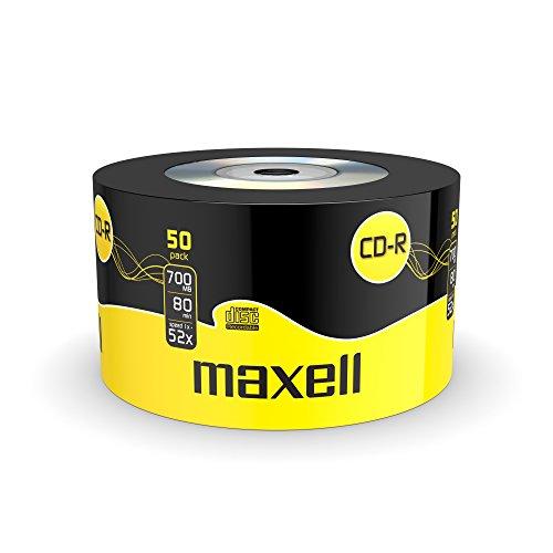 Maxell 624036 CD-R 700MB, 80 min, Confezione da 50 Pezzi