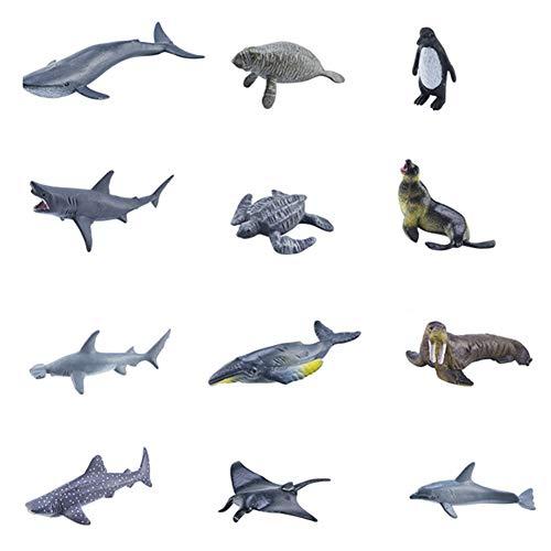 jingjing Juego de 12 alfombrillas de juego con diseño de animales marinos, diseño de dinosaurios, juego de mapas (J)