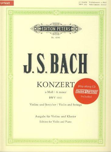 BACH - Concierto nº 1 en La menor (BWV:1041) para Violin y Piano (Oistrakh/Weismann) (Inc.CD)