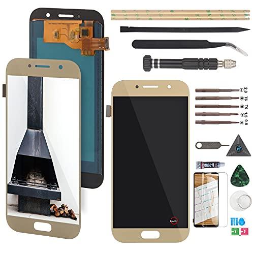 RongZy Pantalla para Samsung Galaxy A5 (2017) Táctil LCD de Repuesto Ensamblaje Digitalizador Reemplazo para Samsung A520F SM-A520F A520 con Herramientas de Reparación(Dorado)