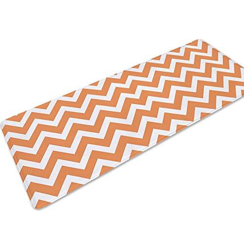 LCZMQRCLMZRQstreep balkon tafel stoel vloer tapijt tapijten voor de woonkamer absorberend antislip keuken mat slaapkamer tapijt deurmat, oranje, 40x60cm