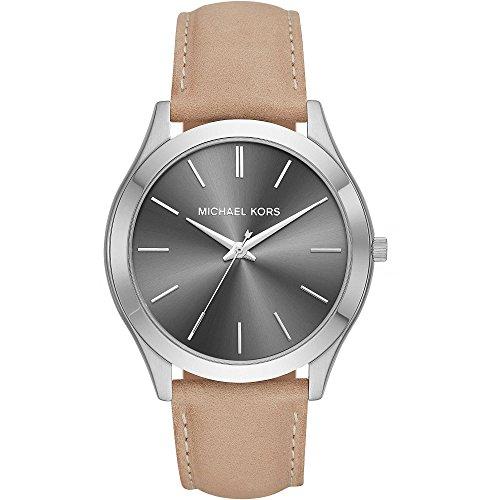 Michael Kors Herren Analog Quarz Uhr mit Leder Armband MK8619