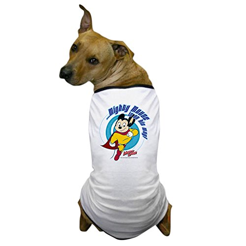 CafePress Mighty Mouse is On His Way Dog T Shirt Dog T-Shirt, Pet Clothing, Funny Dog Costume