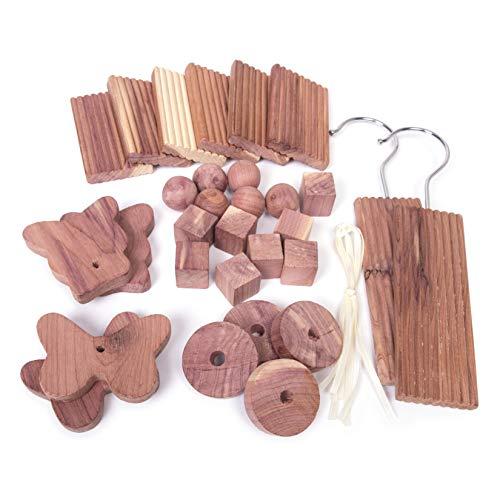 30 x natürliche Bio-Mottenabwehrmittel aus Zedernholz für Kleiderschränke und Schubladen (frei von Chemikalien)