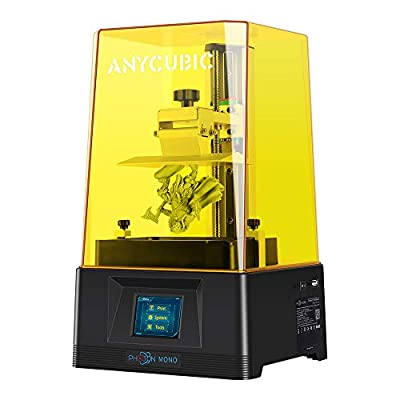 ANYCUBIC 3D Printer Photon Mono UV Light Curing LCD Resin 3D Printer with 6 inch 2K Monochrome LCD Screen, 50mm/h Fast Printing Speed, Print Size 130 x 82 x 165 mm