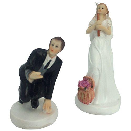 E-muse Angeln Braut und Bräutigam Hochzeits-Tortenfigur Cake Topper die Hochzeitstorte
