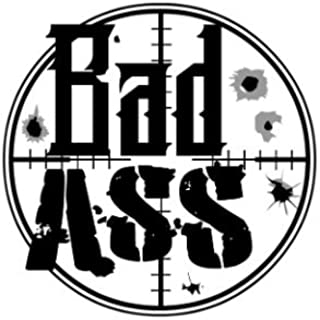 """Bad Ass, Fitness Tattoo, Set of 2 Temporary Tattoos for Athletes Gym Accessories, Size – 3"""" x 3.5"""""""
