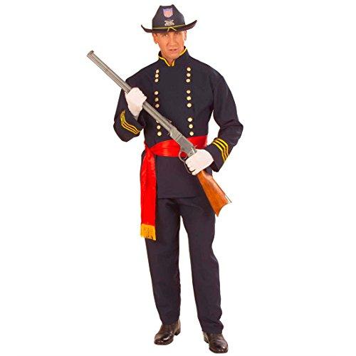 Amakando Yankee Kostüm Nordstaaten Offizier Herrenkostüm L (52) General Soldatenkostüm Fasching US Soldat Faschingskostüm Nordstaatler USA Armee Karnevalskostüm Uniform Mottoparty Karneval Kostüm
