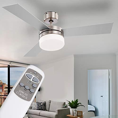 Decken Ventilator Lampe Leuchte inkl. Fernbedienung Beleuchtung Vor-Rücklauf einstellbar 3 Geschwindigkeitsstufen