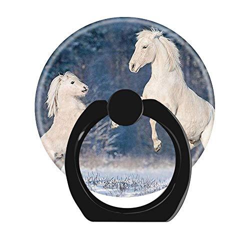 NSNNS Dehnbare Griffbuchse für Handy, 360 ° drehbar, Faltbarer Griff und Ständer für Handys und Tablets (kreisförmig, schwarz) Schnittmuster für weiße Pferde Pony