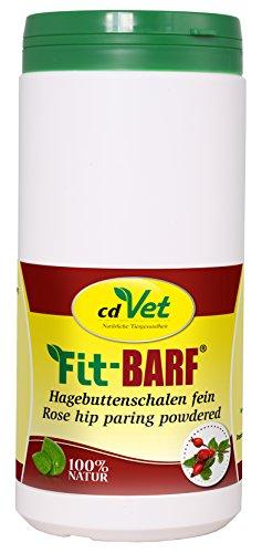 cdVet Naturprodukte Fit-BARF Hagebuttenschalen fein 800 g - Hund - zur bedarfsgerechten Versorgung bei Rohfütterung - reich an Vitamin C - Radikalfänger - fein gemahlen - BARFEN - Immunsystem -