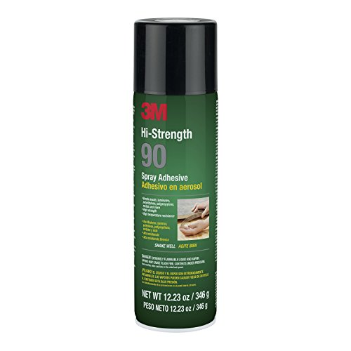 3M Hi-Strength 90 Spray Adhesive | Permanent | Bonds Laminate, Wood, Concrete, Metal, Plastic | Clear Glue | 12.23 fl. oz.
