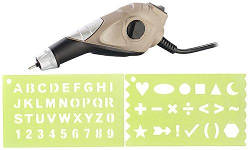 AGT Graviergerät: Gravurgerät mit Karbidspitze, 5 Stufen mit bis 6.000 U/Min, 13 Watt (Graviergerät für Metall)