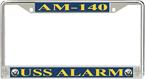 MilitaryBest USS Alarm AM-140 License Plate Frame