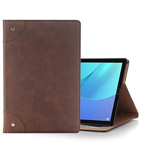 Liluyao Más Casos para Tableta For Huawei MediaPad M5 10.8 Pulgadas Retro Estilo Horizontal Flip PU Funda de Cuero con Soporte y Billetera (Color : Coffee)
