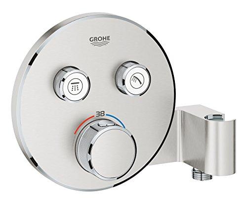 Preisvergleich Produktbild Grohe Grohtherm Smartcontrol,  Brause-und Duschsysteme - Thermostat mit 2 Absperrventilen und integriertem Brausehalter,  supersteel,  29120DC0