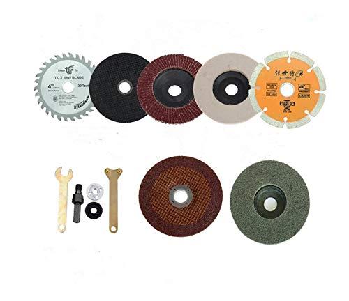 Batreetek ロータリー ブレード ディスクグラインダー 金属 切削 切断砥石 研磨ディスク ルーター工具 レンチ 金属 木工用 (10個セット)