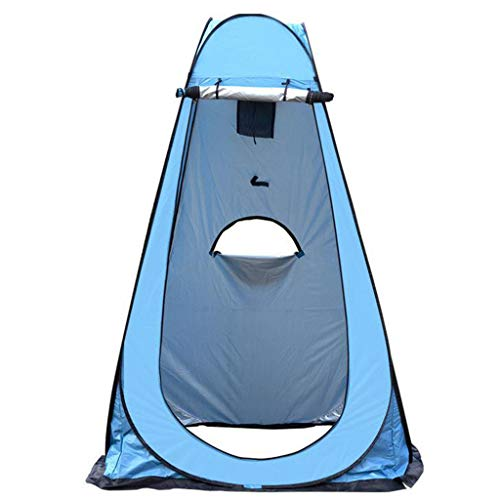 TTlove Camping Toilet Tent Pop Up Shower Privacy Tent for Outdoor Changing Dressing Fishing Bathing Storage Room Tents, Portable with Carrying Bag(B#Blue,120X120X190CM)