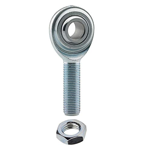 Rod End 3/8 x 3/8-24 ECM6 Male Economy Right Hand Rod End Bearing with Jam Nut Included Heim Joint Rod End Direct