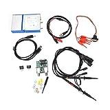 Kit oscilloscopio, oscilloscopio virtuale per telefono cellulare + generatore di segnale 13M con funzione di analizzatore logico a 4 canali Livello TTL e analisi dello spettro FFT, per fai da te