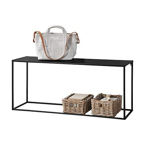 [en.casa] Konsolentisch Beistelltisch 50x115x32 cm Wohnzimmertisch Industrie-Design Metall Schwarz