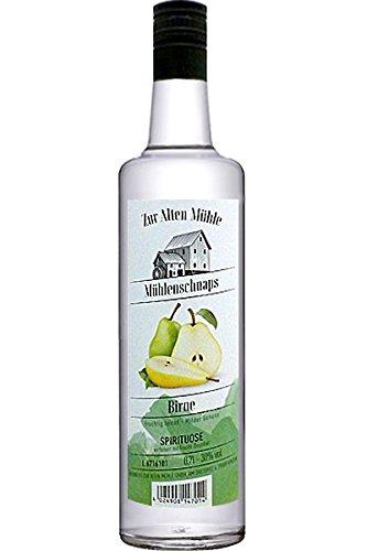 Zur Alten Mühle Mühlenschnaps Birne Spirituose verfeinert mit Frucht Destillat 0,7 Liter