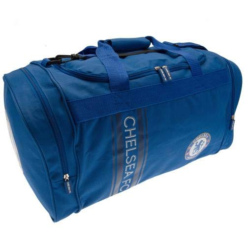Chelsea F.C Sac fourre-tout en nylon avec rayures Bleu