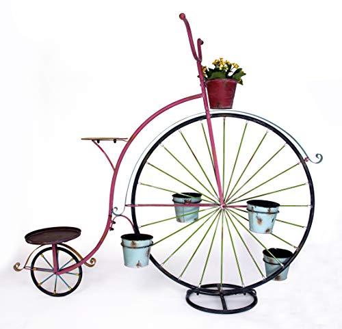 GeKi Trend Blumenfahrrad Hochrad aus Eisen, XXL 152 cm hoch x 170 cm lang
