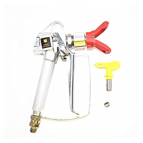 vases Pistola de pulverización de Alta presión con 517 Punta giratoria Pistola de pulverización sin Aire de Alta presión para pulverizadores de Alta presión (Color : Silver)