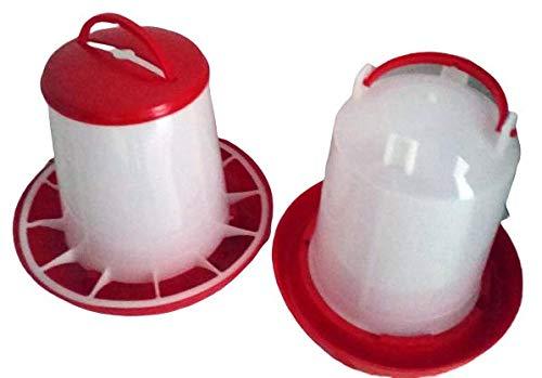 Futterspender für Geflügel 3 KG Plus Stülptränke 3 Ltr. NEU: ANTIBAKTERIELL