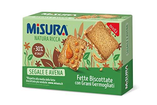 Misura Fette Biscottate Natura Ricca| con Grani Germogliati | Confezione da 320 grammi