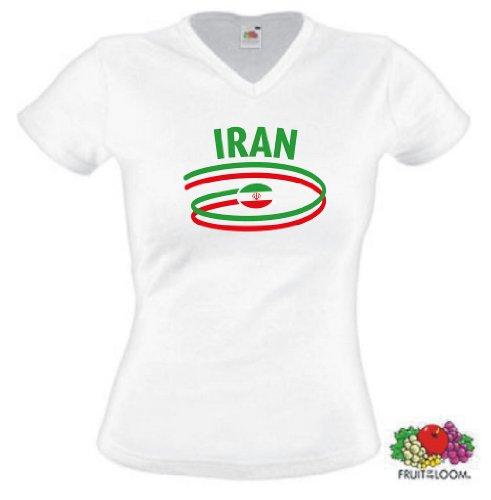 world-of-shirt Iran Damen T-Shirt Dynamic Trikot|w XS