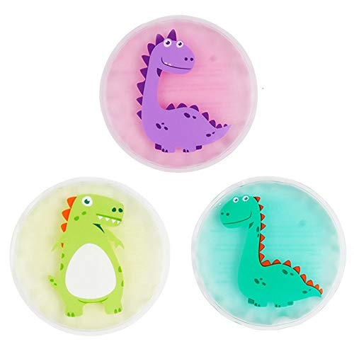 """Hilph® Kids Ice Packs for Boo Boos, 3 Packs for Hot Cold Compress, Boo Boo Ice Packs for Kids's Injuries, Kid's Pain Relief, Sore Joints, Fevers, Teething-4.3"""" X 4.3"""""""