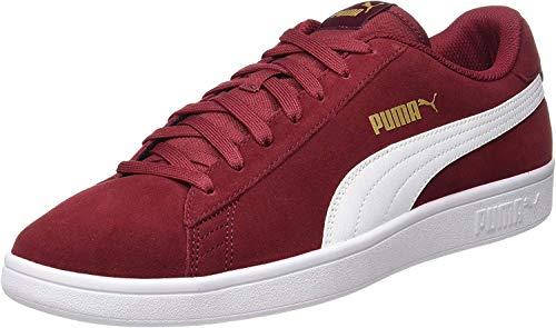 PUMA Unisex Smash v2 Sneaker, Rot (Rhubarb Team Gold-White), 46 EU