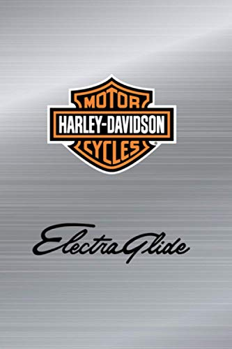 harley davidson Electra Glide notebook: 110 white lined pages 6 x 9...